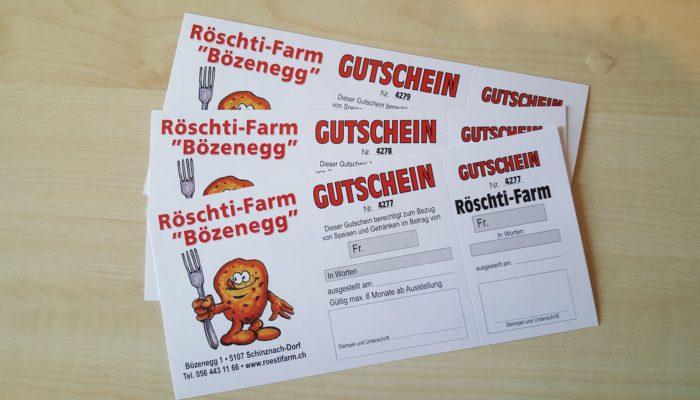 Gutschein Röschti-Farm